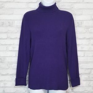 ADDITIONS by CHICOS purple turtleneck sweater 2
